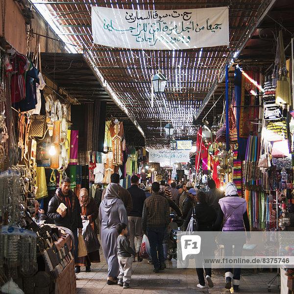 Weg  beschäftigt  Markt  Marokko