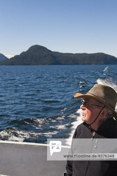 Fröhlichkeit  fahren  Zweifel  See  Fähre  Touristin  Geräusch  Neuseeland  mitfahren
