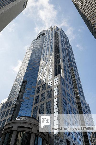 Vereinigte Staaten von Amerika  USA  niedrig  Hochhaus  Ansicht  Flachwinkelansicht  Winkel  Seattle