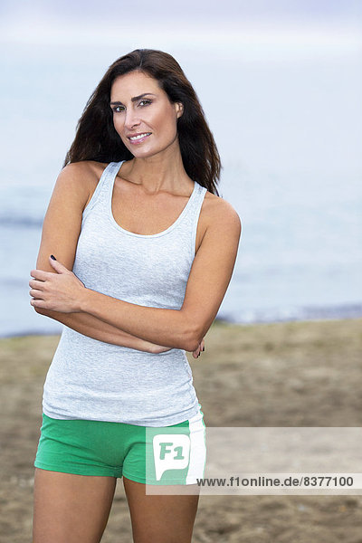 Portrait  Frau  Kleidung  Strand  Beauty  joggen