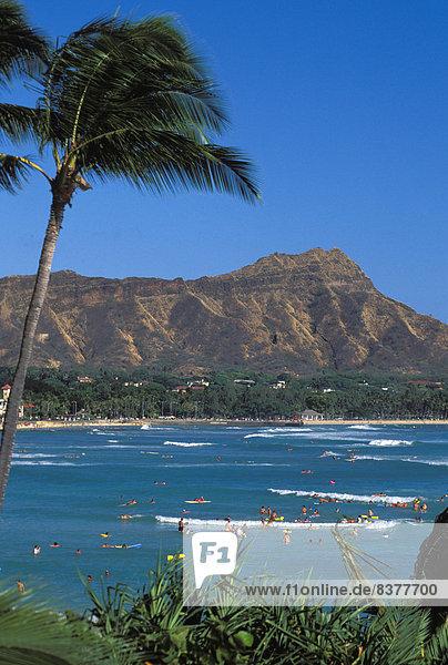 Vereinigte Staaten von Amerika  USA  Mensch  Menschen  Ozean  Küste  Schwimmer  Insel  schwimmen  Hawaii  hawaiianisch