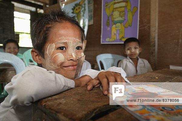 Students In The Primary School In Laputtaloke Taung Village Close To Labutta Labutta  Burma  Myanmar
