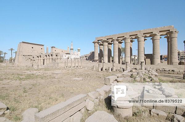 Luxor-Tempel  UNESCO-Weltkulturerbe  Theben  Luxor  Ägypten