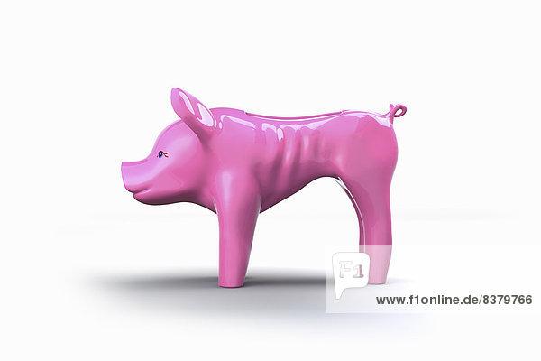 Mageres leeres Sparschwein