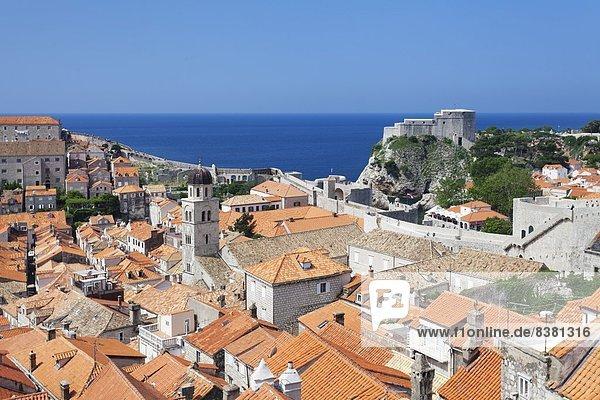 Europa Altstadt UNESCO-Welterbe Kroatien Dalmatien Dubrovnik