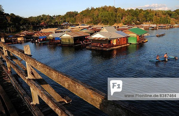 Floating village in Sangkhlaburi