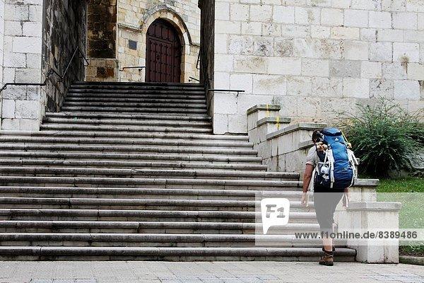 Santander Pilgerer Kathedrale Spanien