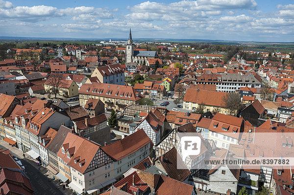 Historical centre of Bad Langensalza  Thuringia  Germany