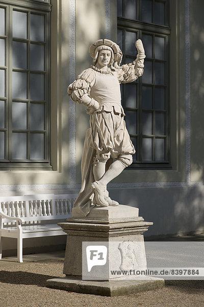 Hunter statue at the Summer Palais  18th century  Greiz  Thuringia  Germany