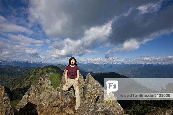 Frau  Berg  Pose  hoch  oben  japanisch