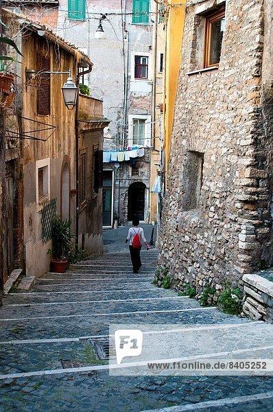 gehen Straße Mensch Stadt Latium Italien alt Tivoli