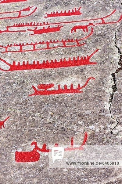 Felsbrocken  Lebensphase  1  Gemälde  Bild  eingravieren  Höhlenmalerei  Bronze  Kollektion