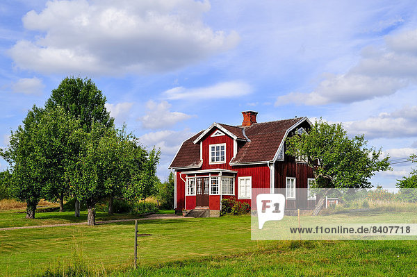 Sweden  Smaland  Kalmar laen  Vimmerby  between Yxered and Tibbhult  residential house