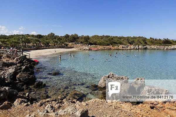 Kleopatra-Strand auf der Insel Sedir Adas? bei Marmaris  Golf von Gökova  Ägäis  Provinz Mu?la  Türkei