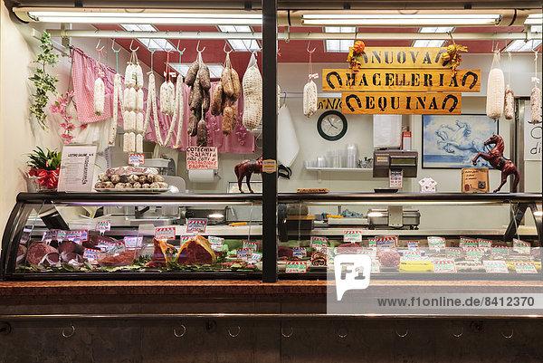 Schaufenster von einem Pferdemetzger  Padua  Italien