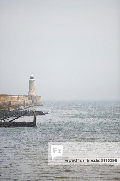 Hafenleuchtturm  Tynemouth  Tyne and Wear  Großbritannien