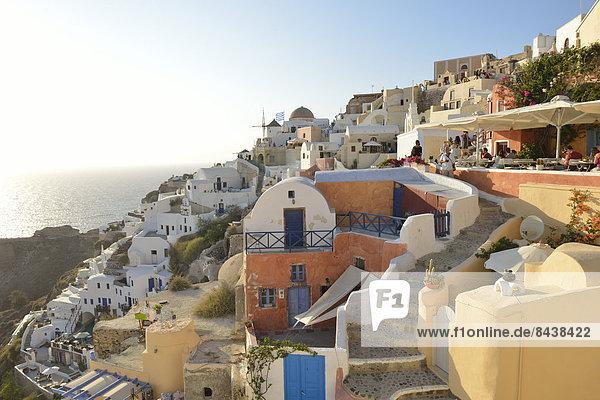 Europa  Reise  Stadt  Ziel  Architektur  Reichtum  Insel  Urlaub  Griechenland  Santorin  Kykladen  griechisch  Oia  Ia  Romantik  Thira