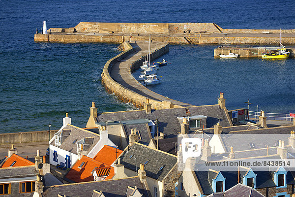 Cullen  Great Britain  Europe  Scotland  sea  coast  provincial town  village  houses  homes  harbour  port  fishing boats