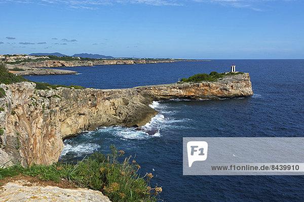 Außenaufnahme, Landschaftlich schön, landschaftlich reizvoll, Europa, Landschaft, Küste, niemand, Meer, Leuchtturm, Balearen, Balearische Inseln, Mallorca, Mittelmeer, Spanien