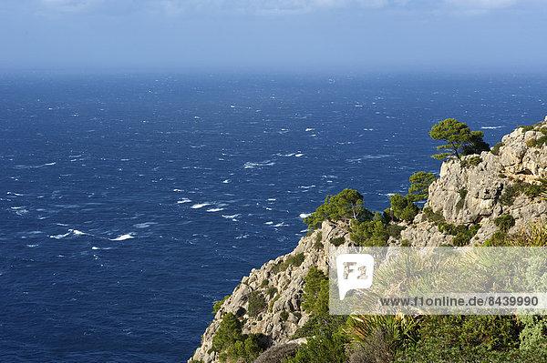 Außenaufnahme, Landschaftlich schön, landschaftlich reizvoll, Europa, Landschaft, Küste, niemand, Meer, Natur, Balearen, Balearische Inseln, Mallorca, Mittelmeer, Spanien