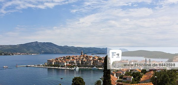 Kroatien  Dalmatien  Blick auf Korcula
