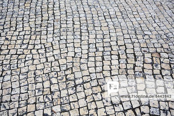 Portugal  Lissabon  Kopfsteinpflaster