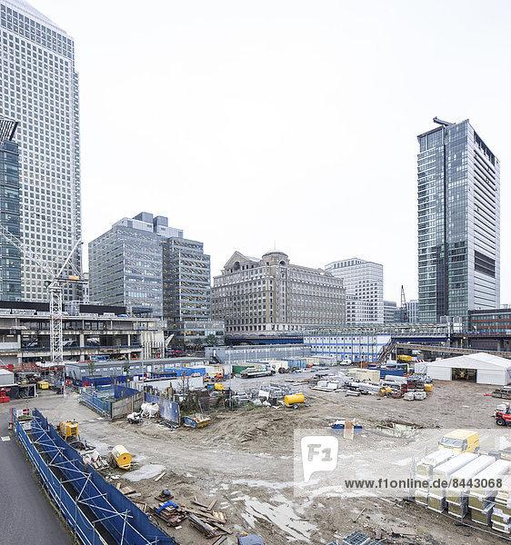 UK  London  Docklands  construction site at financal district