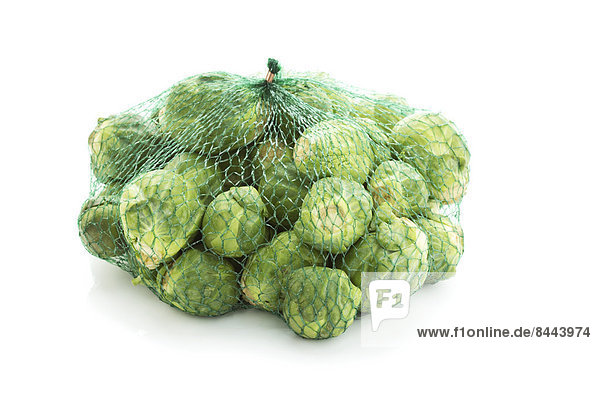 Brussel sprout in net