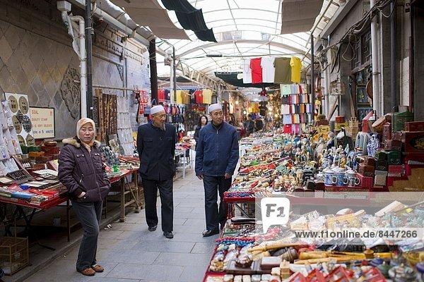 Blumenmarkt  chinesisch  verkaufen  Souvenir  China  Ortsteil  Markt  Xian