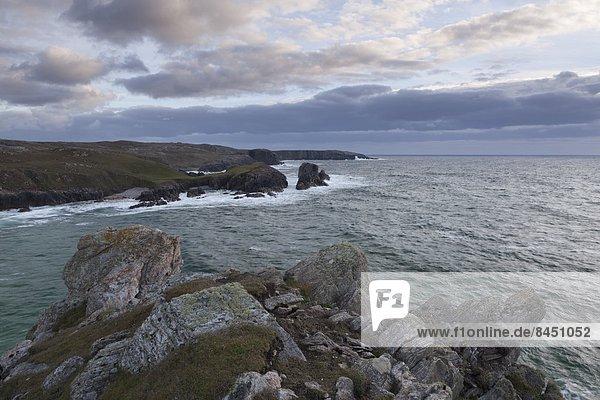 Europa  Abend  Großbritannien  Steilküste  Schottland  September