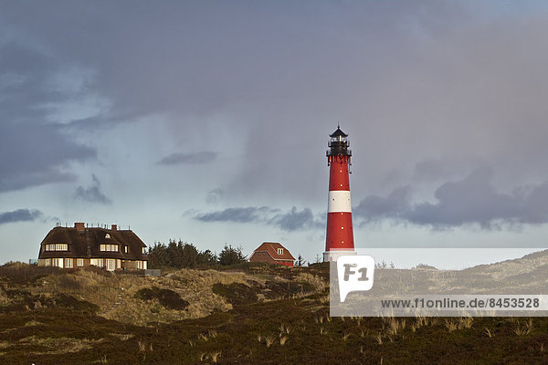 Leuchtturm in Hörnum  Sylt  Schleswig-Holstein  Deutschland