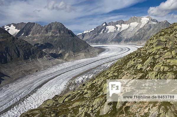 Schweiz Aletschgletscher Kanton Wallis