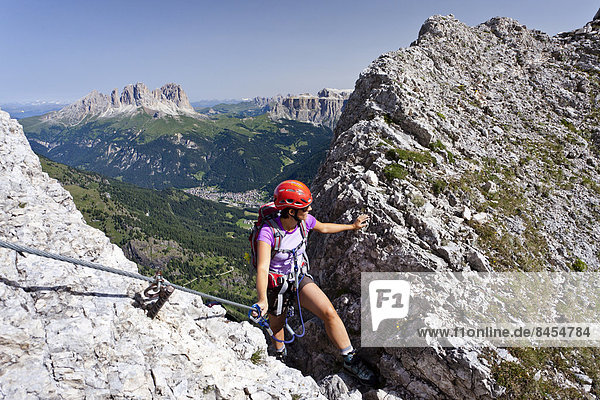 Klettersteig Plattkofel : Dolomiten fassatal hinten langkofel und plattkofel italien