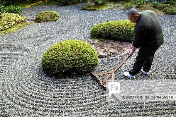 zwischen inmitten mitten unterrichten geben Gebäude schlechte Angewohnheit Zen Brücke Meditation Kultur Garten Rechen 02 Themen groß großes großer große großen Altar Japan Shintoismus Schrein