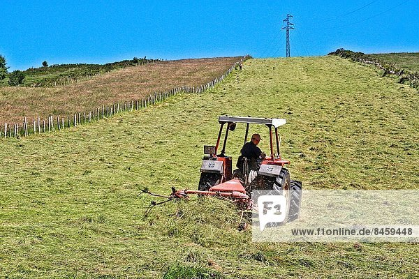 Traktor  Gras  Spanien