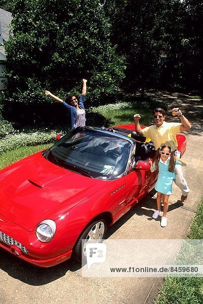 Urlaub Auto Cabrio Hispanier verpacken Spaß verlassen