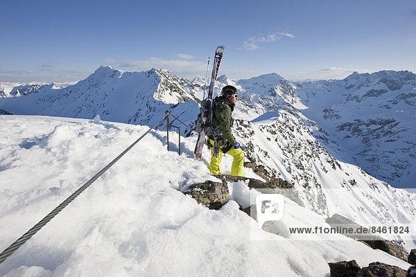 Freerider am Grat  Winterklettersteig  Arlberg  Verwallgruppe  Nordtirol  Österreich Freerider am Grat, Winterklettersteig, Arlberg, Verwallgruppe, Nordtirol, Österreich
