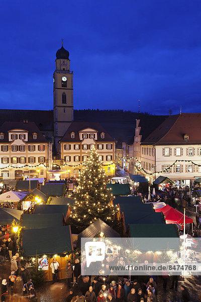 Weihnachtsmarkt  Bad Mergentheim  Baden-Württemberg  Deutschland