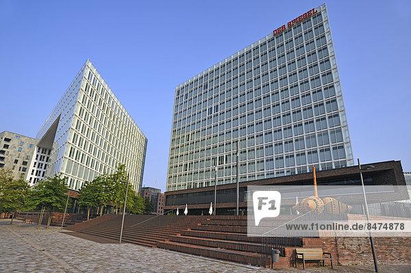 Spiegel-Gebäude  Spiegelhaus  Ericusspitze mit Campus  Hamburg  Deutschland