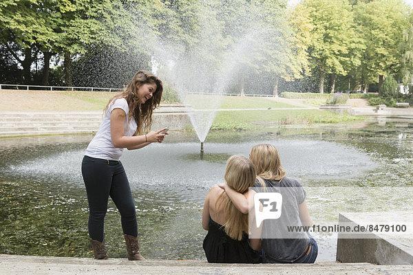 benutzen  Freundschaft  Telefon  Handy