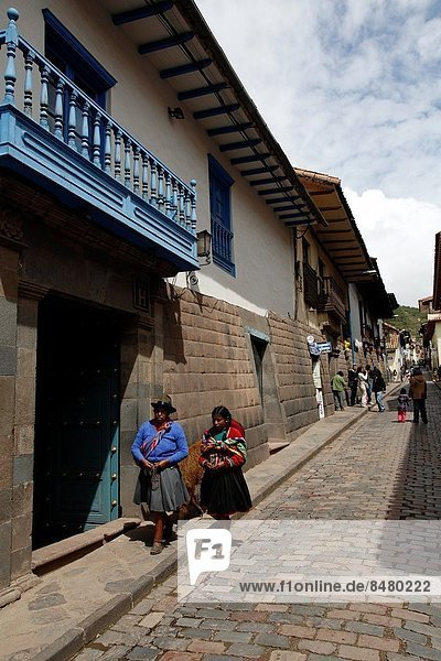 grau Wand Straße Cuzco Cusco Peru
