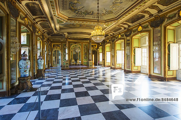Saal der Botschafter  Nationalpalast von Queluz  Pal·cio Nacional de Queluz  Queluz  Portugal