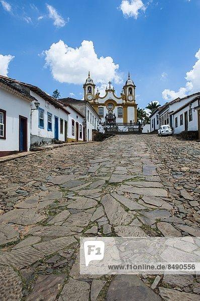 Historical mining town Tiradentes  Minas Gerais  Brazil  South America