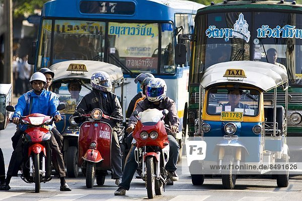 Bangkok Hauptstadt Thailand Straßenverkehr