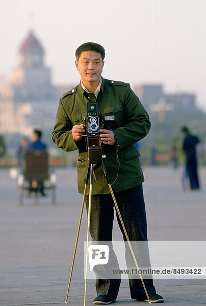 Official tourist photographer Tianenmen Square  Peking (Beijing)  China