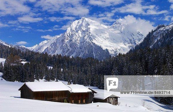 zwischen inmitten mitten hoch oben Bauernhaus Berg Fernverkehrsstraße Scheune Alpen Messgerät rechts schweizerisch