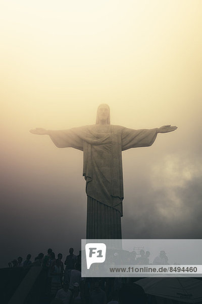 Brasilien  Rio de Janeiro  Corcovado  Jesus Christus der Erlöser-Statue