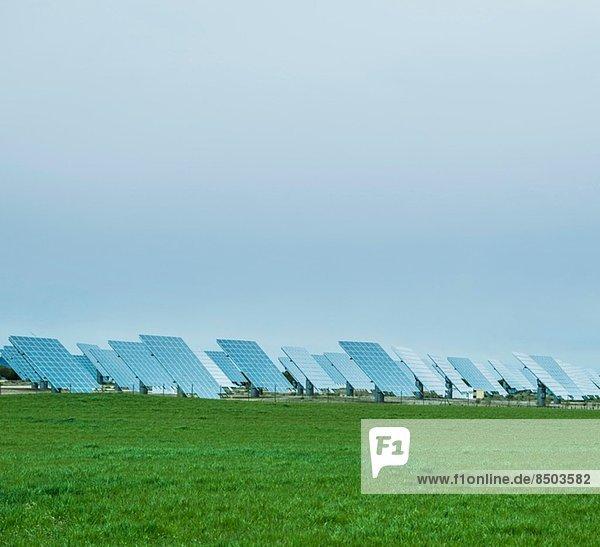 Sonnenkollektoren  La Mancha  Spanien