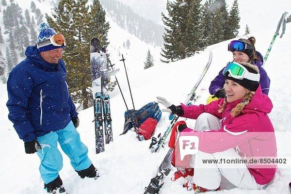 Guide und Kunden Skitouren in Kuhtai  Österreich
