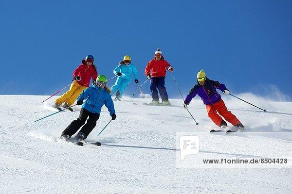 Freundeskreis Skifahren in Kuhtai  Tirol  Österreich